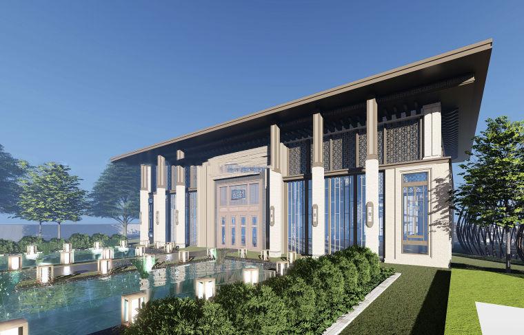 售楼处示范区+T4叠拼别墅建筑模型设计 (5)