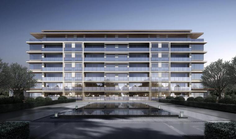 [北京]现代中式轻奢豪宅洋房建筑方案文本