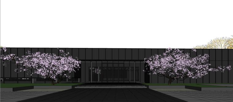 知名地产深圳湾超级总部基地城市展厅建筑模型设计 (5)