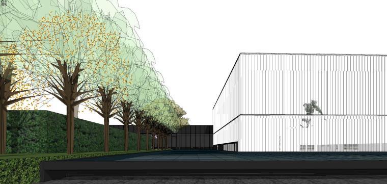 知名地产深圳湾超级总部基地城市展厅建筑模型设计 (2)