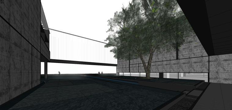 知名地产深圳湾超级总部基地城市展厅建筑模型设计 (8)