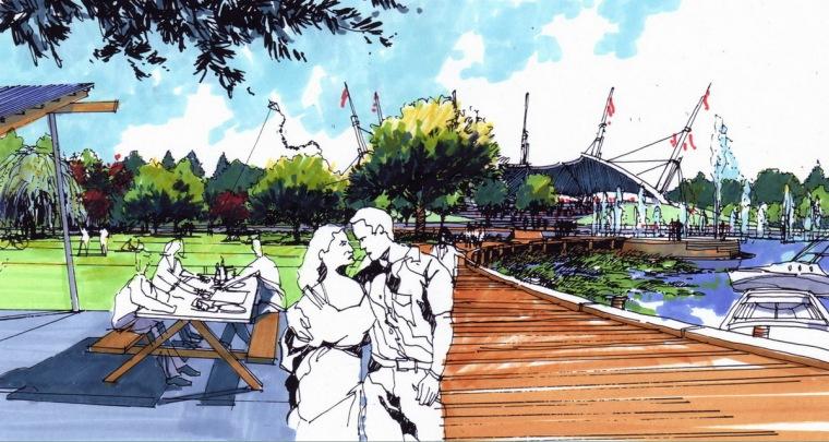 公园景观效果图2