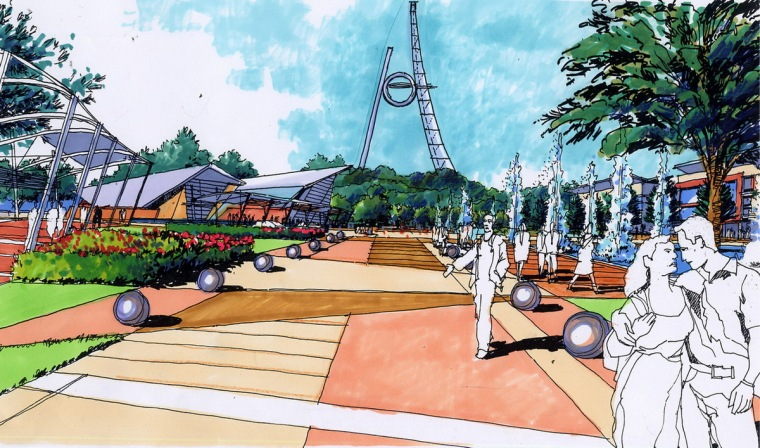 公园景观效果图3
