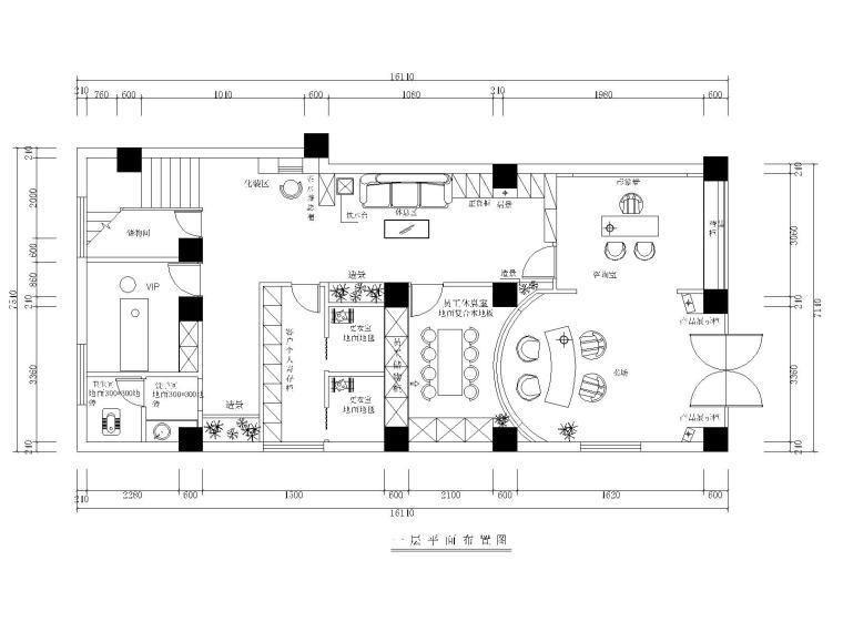 某美容院全套室内施工图CAD