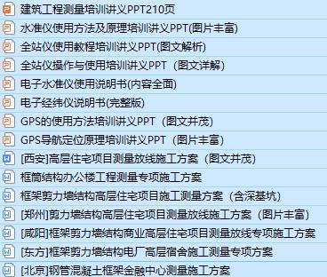 15套建筑工程测量培训资料合集