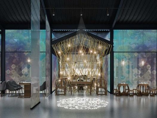 让空间有故事,餐饮空间设计(附50套资料)