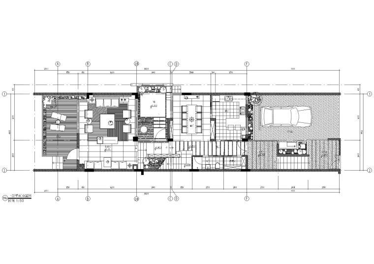[重庆]奥园联排别墅样板间施工图+效果图