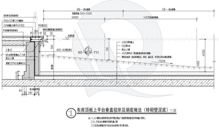 车库顶板上--复合土工膜-泥底 (2)