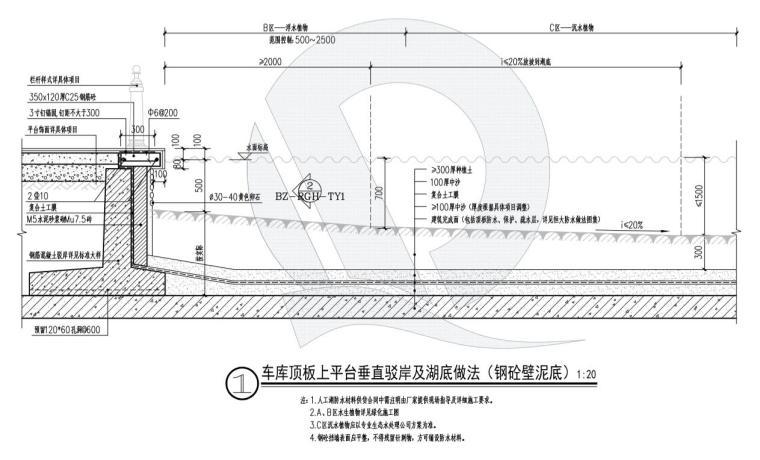 车库顶板上--复合土工膜-泥底 (5)