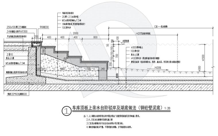 车库顶板上--复合土工膜-泥底 (6)
