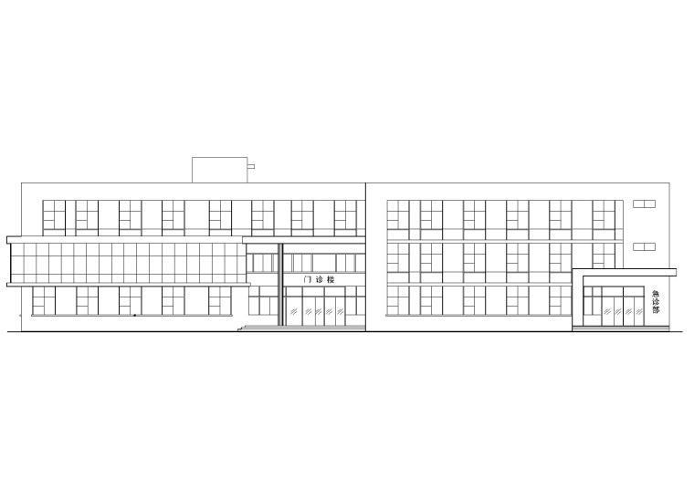 某县级市医院独立门诊楼建筑工程设计施工图