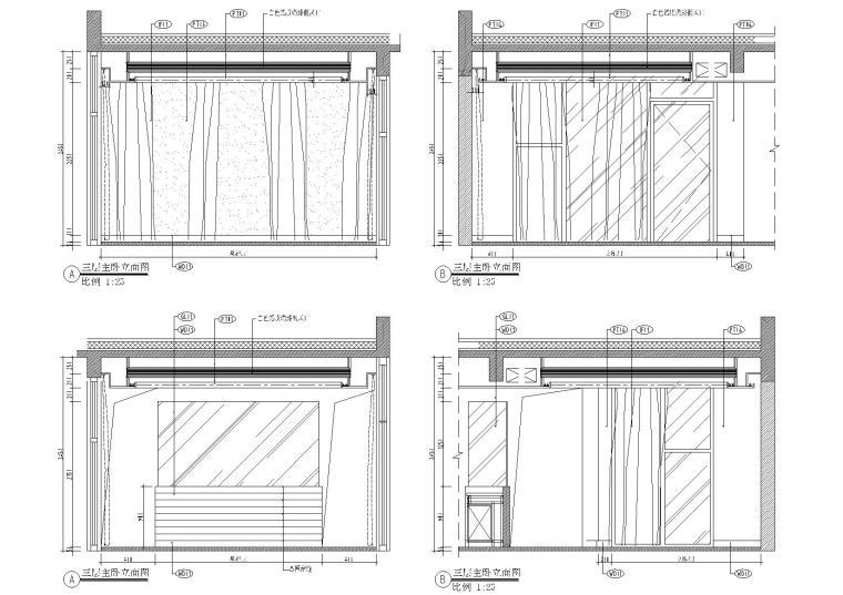 三层书房立面图
