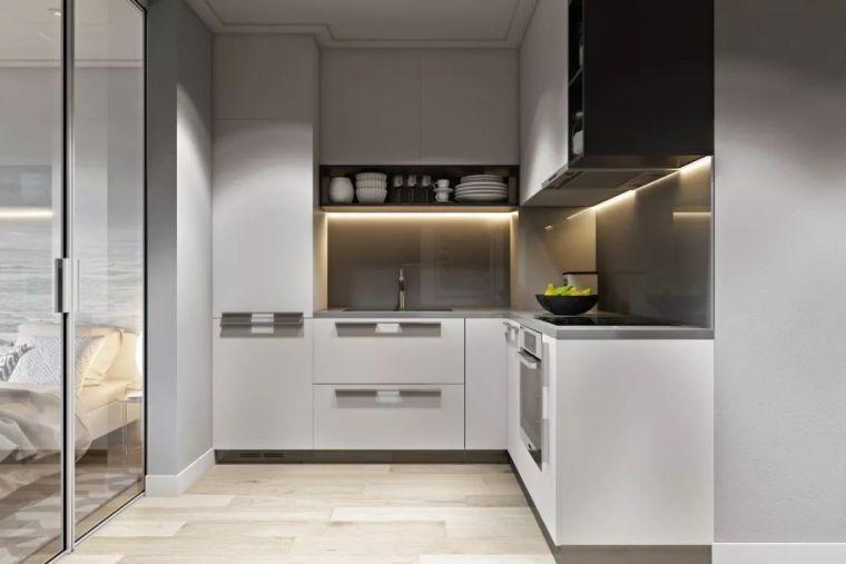 2020厨房设计案例集,L型厨房正流行!