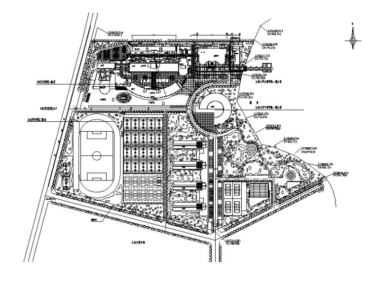 大学校区总平面图规划设计7