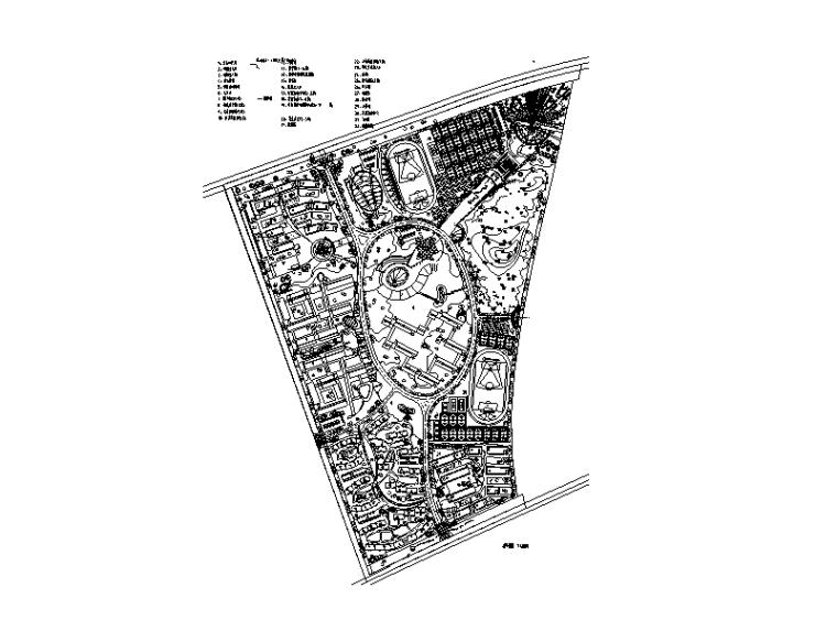 大学校区总平面图规划设计8