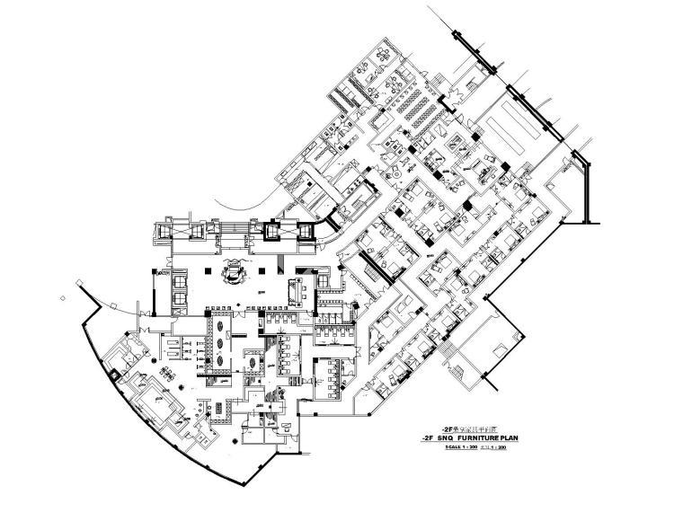 [杭州]五星级度假酒店桑拿设计施工图