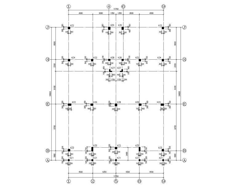 结构柱布置图