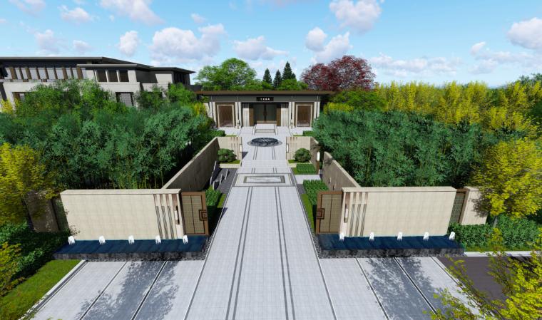 庭院鸟瞰图