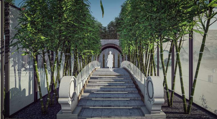 竹林石桥效果图