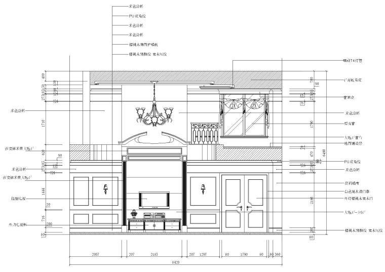 一层大厅剖面图2