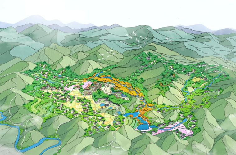 欧式田园两居室资料下载-[一键下载]11套田园综合体总体规划方案
