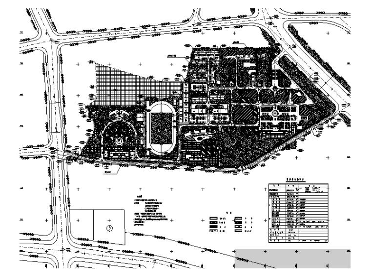 30套大学校园校区总平面图规划设计(CAD)