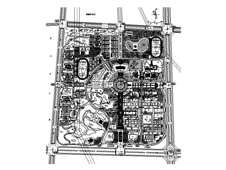 大学校区总平面图规划设计4