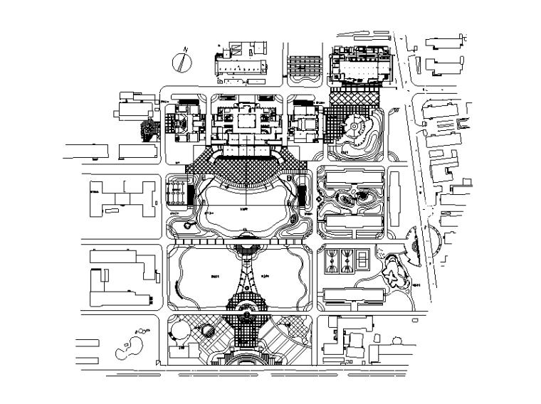 大学校区总平面图规划设计6