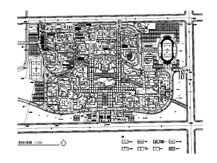 大学校区总平面图规划设计5