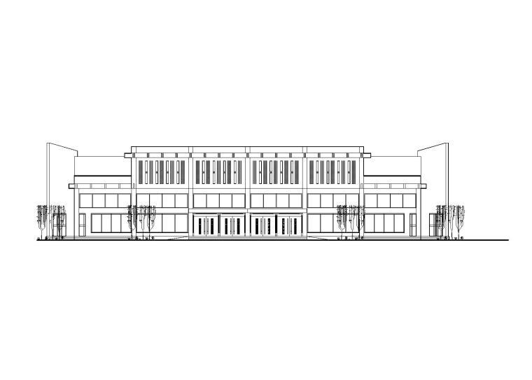 某三层框架结构汽车客运站建筑方案图(CAD)