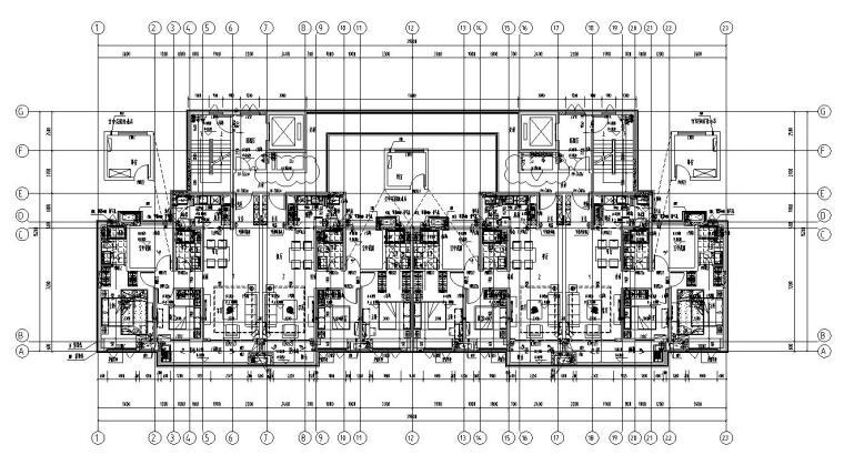 新亚洲风格保利户型1梯2户型图设计-2018年