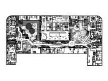 山东商业综合广场景观设计图纸及图纸预算
