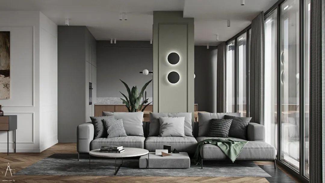 高级灰+护墙板,领略法式优雅与极致!