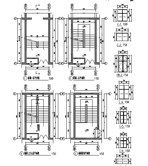 楼梯间平面图