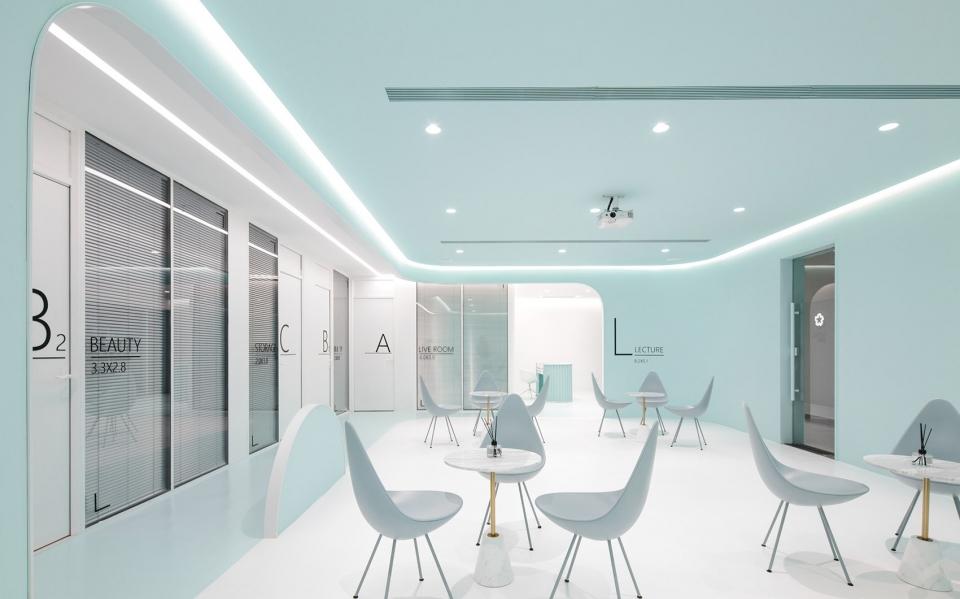 一个薄荷味的梦,洛园办公空间设计改造!