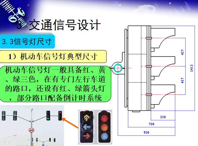 道路交通标线及交通信号设计讲解(400余页)-信号灯尺寸