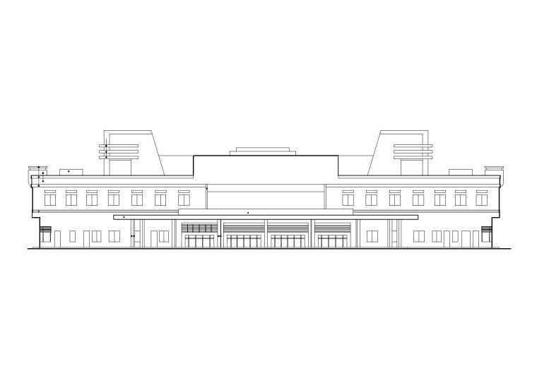 某二层汽车客运站建筑方案图(CAD)