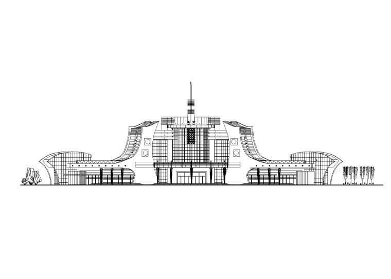 某小型综合客运站设计方案_CAD