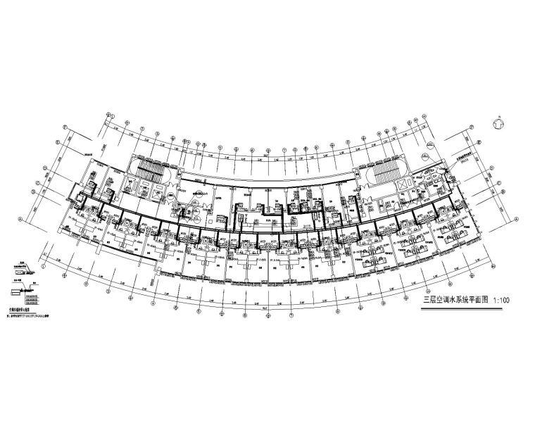 三层空调水系统平面图