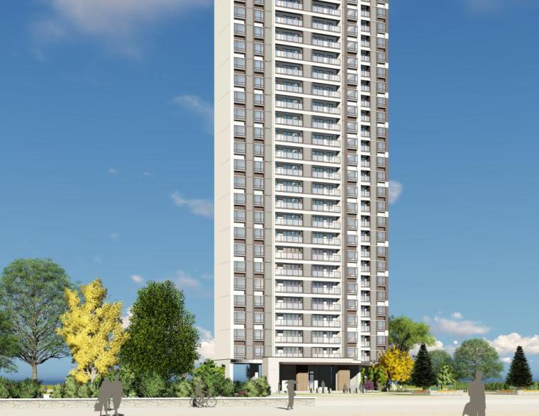现代风知名地产户型140-140-115㎡户型建筑模型 (2)