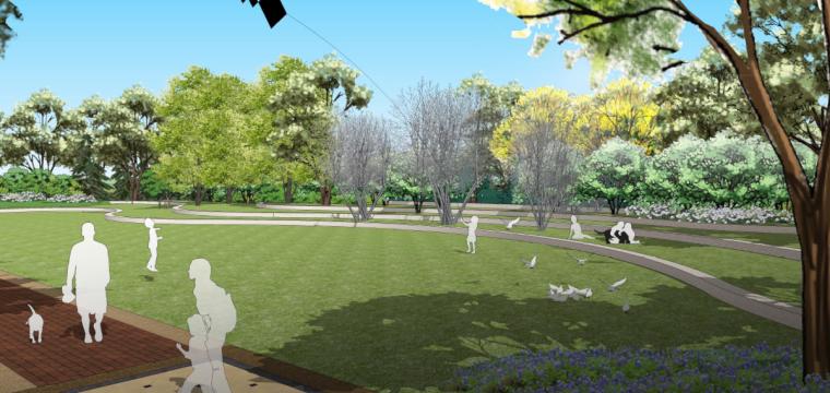 草坪空间效果图