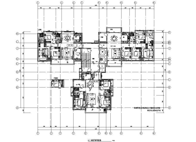 现代风格保利户型1梯3户型图设计-2018年