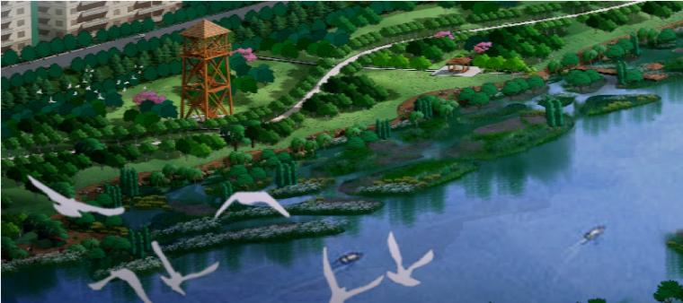 [江苏]经济开发区生态滨河景观带设计方案
