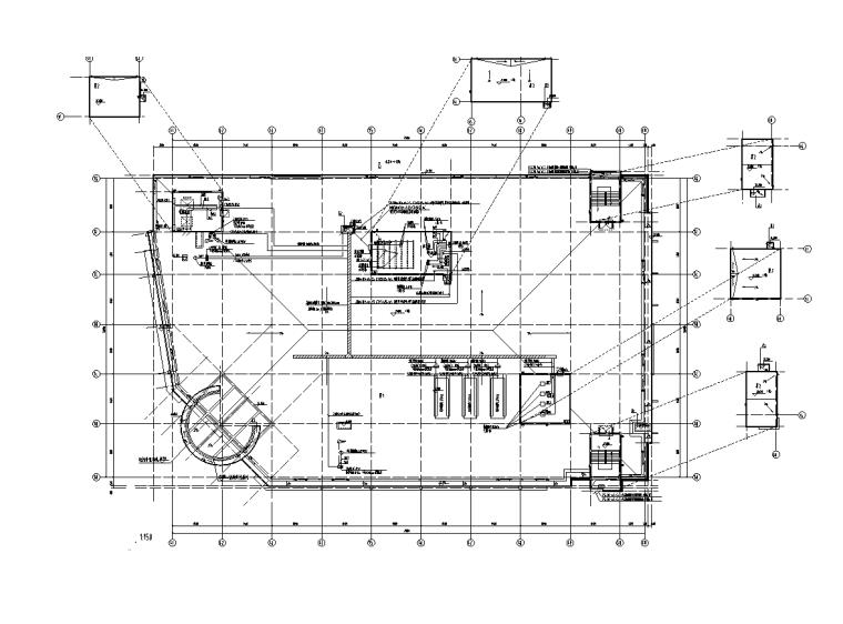 江苏4层商业楼电气施工图(建筑结构水暖)