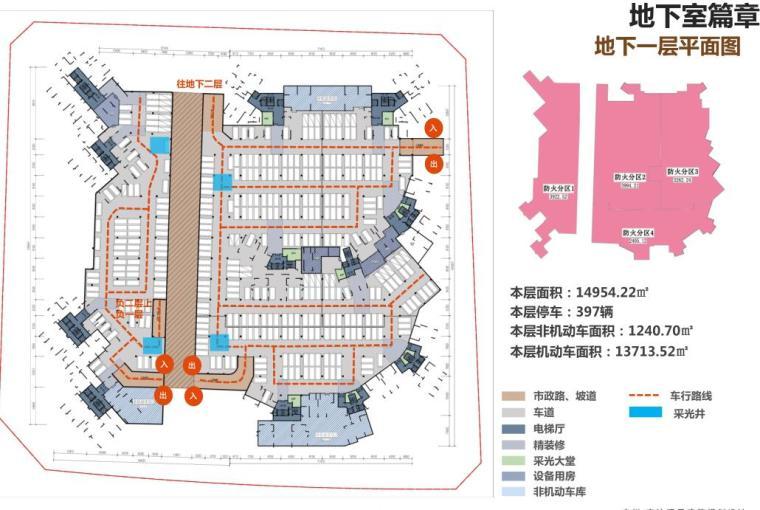 [广东]滨海江景现代住宅高层建筑方案设计-地下一层平面图