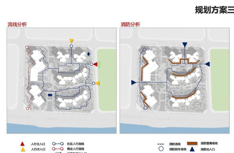 [广东]滨海江景现代住宅高层建筑方案设计-流线分析
