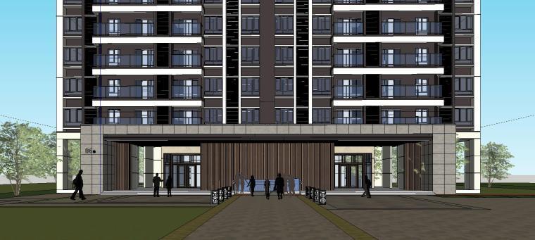 现代风格知名地产1梯5户住宅建筑模型设计-现代风格知名地产户型1梯5户住宅建筑模型设计 (5)