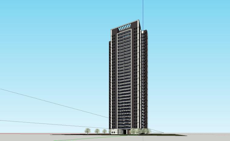 现代风格知名地产1梯5户住宅建筑模型设计-现代风格知名地产户型1梯5户住宅建筑模型设计 (3)