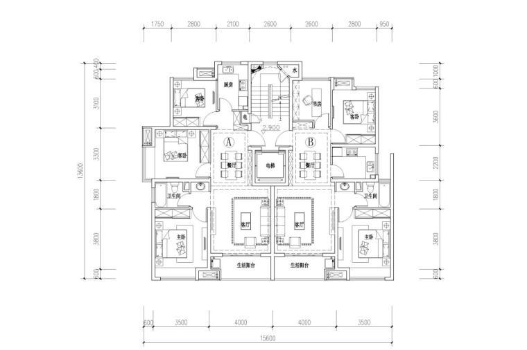 宝龙住宅标准户型设计 (1)