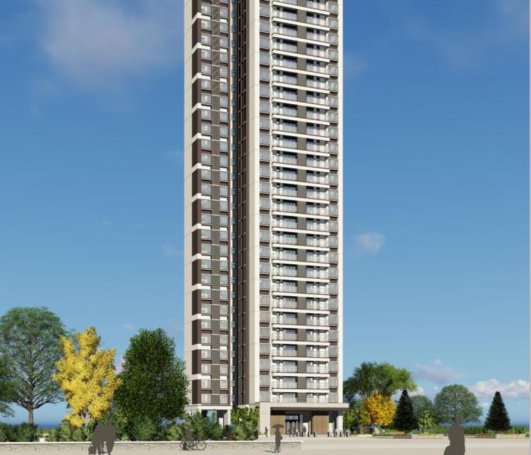 现代风格知名地产户型120-110-90㎡住宅建筑模型 (2)